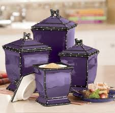 purple kitchen canister sets ruffle 4 canister set from ginny s purple