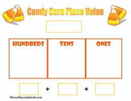 candy corn place value worksheet and more blessed beyond a doubt