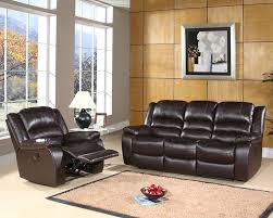 Leather Reclining Sofa Set by Living Reclining Sofa Set Ashlyn Ab 55ch 8801 Brn 3 1