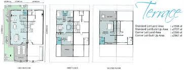 3 floor house plans terrace home plans home design