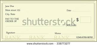 vector illustration blank bank check template stock vector