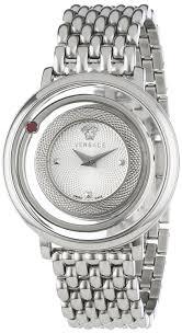 amazon com versace women u0027s vfh010013 venus round stainless steel