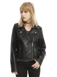 black leather motorcycle jacket black faux leather girls motorcycle jacket topic