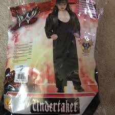 Wwe Undertaker Halloween Costume Kids Wwe Undertaker Costume Size 12 14 Fits 8 10