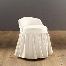 Swivel Vanity Chairs by Slipcovered Swivel Stool Ballard Designs