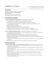 Sample Undergraduate Resume Criminal Justice Resume Samples Resume Format 2017