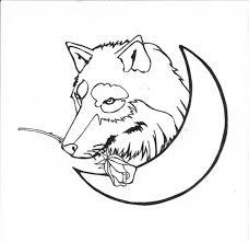wolf moon and rose tattoo by karadarkthorn on deviantart
