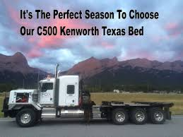 kenworth bed truck it u0027s the perfect season to choose our c500 kenworth texas bed