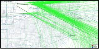 Flight Path Map Eye On Miami Flight Paths Over Miami U0027s Downtown About 650