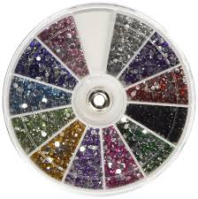 amazon com 350buy rhinestones 2400 piece 12 color nail art