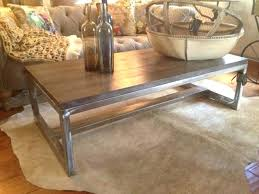 Rustic Metal Coffee Table Rustic Wood And Metal Coffee Table Furniturecontemporary Sother