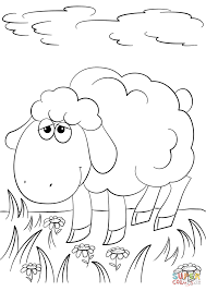 cute cartoon lamb coloring page free printable coloring pages