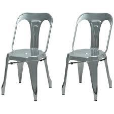 m chaises kraft zoeli lot de 2 chaises de salle à manger métal aluminium