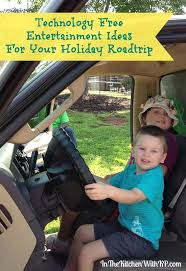 technology free entertainment ideas for your roadtrip in