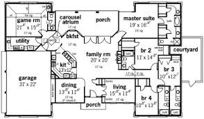 grand floor plans grand destin 3009 7799 4 bedrooms and 4 baths the house designers