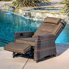 reclining patio chair with ottoman reclining lounge chair serba tekno com