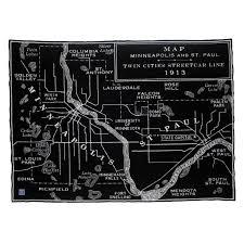 Space Junk Map Faribault Vintage Twin Cities Map Wool Throw U2013 Carver Junk Company