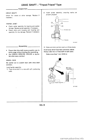 nissan frontier drive shaft nissan 300zx 1985 z31 rear suspension workshop manual