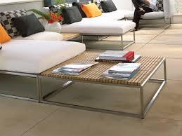 cloud teak garden side table by gloster design mark gabbertas