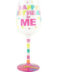 novelty wine glasses gifts amazing deal on top shelf happy birthday to me decorative