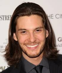 center part mens hairstly long dark straight men s hairstyle with off center part and