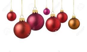 matte decoration balls hanging on white background