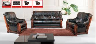 leather sofa living room classic italian leather sofa set three piece dark sofa group for
