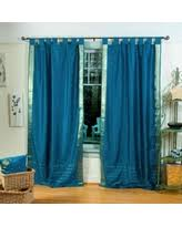 Sari Curtain Great Deals On Forest Green Tab Top Sheer Sari Curtain Drape