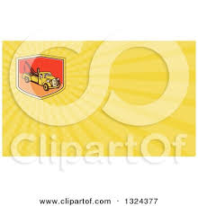 Tow Truck Business Cards Cartoon Of A Happy Tow Truck Driver Holding A Thumb Up Over A