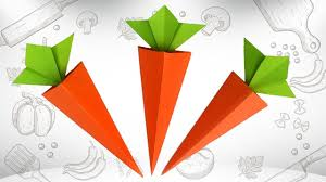 cute origami carrot diy how to make a paper carrot easy carrot