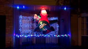 Christmas Window Decorations Youtube by Beautiful Christmas Lights Decorations At Flackwell Heath Idolza