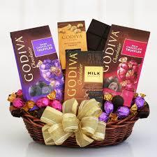 chocolate baskets godiva exquisite expressions chocolate gift basket hayneedle