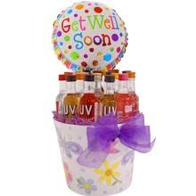 get well soon basket gift basket experts mini bar gifts liquor gift baskets wine