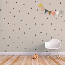 Nursery Wall Decorations Removable Stickers Triangle Wall Decal Baby Wall Decal Removable Stickers Wall