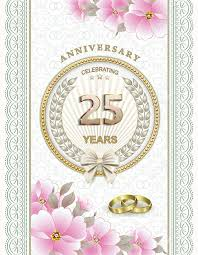 25 year wedding anniversary wedding anniversary 25 years royalty free cliparts vectors and