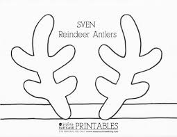 reindeer printable coloring pages click here printable pdf reindeer antlers 478596 coloring pages
