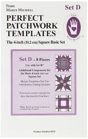 amazon com perfect patchwork template set e eight pointed star