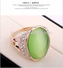 opal stone rings images Beautiful jewelry big green opal stone and crystal gold opal jpg