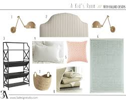 a little girl s room with ballard designs 3a design studio kids bedroom mood board with ballard designs