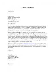 sample admin cover letter administrative officer cover letter