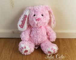 personalized easter bunny personalized easter bunny stuffed animal personalized bunny