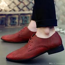 italian fashion men luxury crocodile texture leather dress oxfords