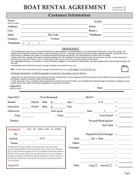 excellent boat rental agreement template with blank form of