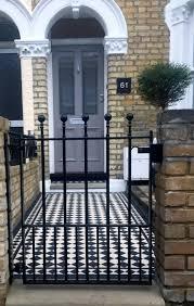 victorian garden walls victorian mosaic tile path u0026 front garden design east dulwich