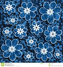 Flower Design For Scrapbook Blue Grunge Flower Scrapbook Paper Royalty Free Stock Photos