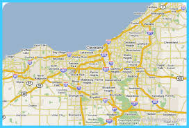 map of cleveland map of cleveland ohio vacations travel map