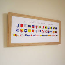 Flag Signals Meaning Maritime Signal Flags Alphabet Print By Glyn West Design