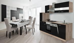 K Henzeile Respekta Küche Küchenzeile Einbauküche Küchenblock 250 Cm Eiche