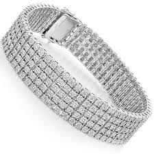 sterling silver bracelet with diamond images Mens sterling silver bracelets 5 row diamond bracelet 0 81ct jpg