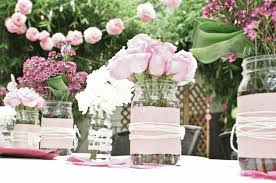 roses centerpieces creative idea pink roses centerpieces in clear masson jar with